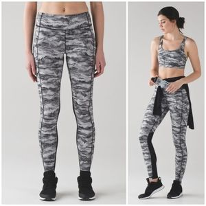 Rare Lululemon Speed Tight V Hazy Days Camo Pant